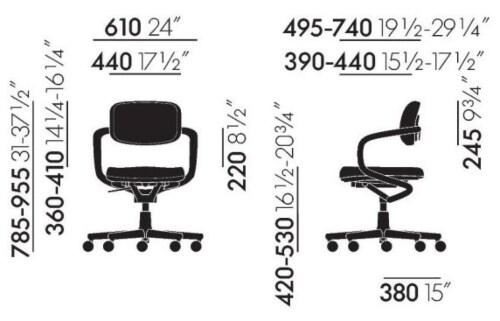 Vitra Allstar bureaustoel-Zilver-wit