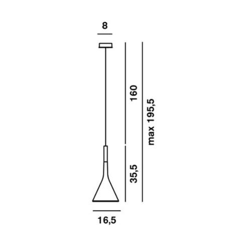 Foscarini Aplomb hanglamp-Bruin