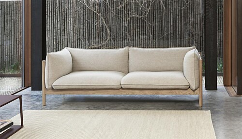 HAY Tapis vloerkleed-Off White and Lavender-80x200 cm