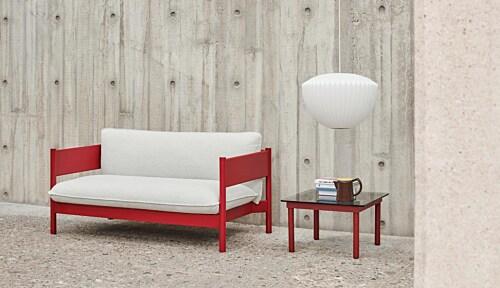 HAY Kofi salontafel 80x80 cm-Grey Tinted Glass-Walnoot