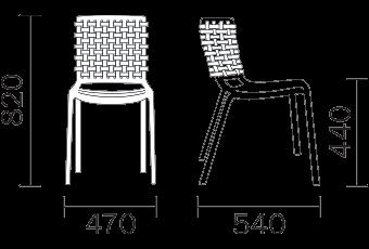 Pedrali Tatami 305 stoel-Bruin