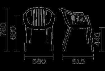 Pedrali Tatami 306 stoel-Groen