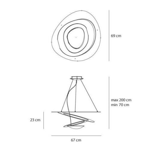 Artemide Pirce mini LED hanglamp-Goud