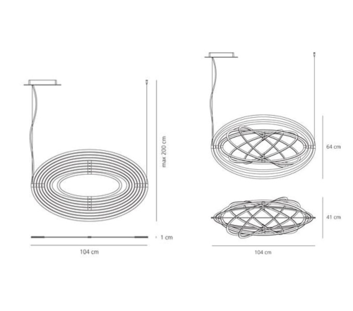 Artemide Copernico suspensione hanglamp-zwart