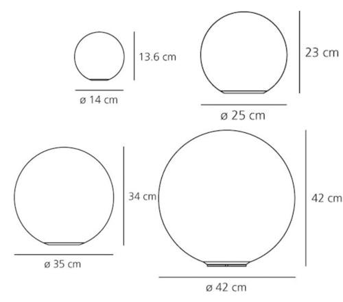 Artemide Dioscuri tafellamp-Kap ∅ 25 cm