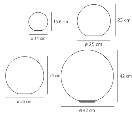 Artemide Dioscuri tafellamp-Kap ∅ 35 cm