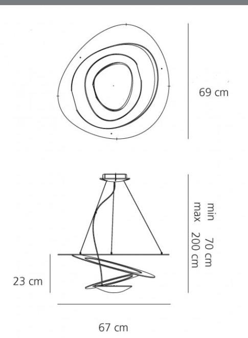 Artemide Pirce mini LED hanglamp - Wit