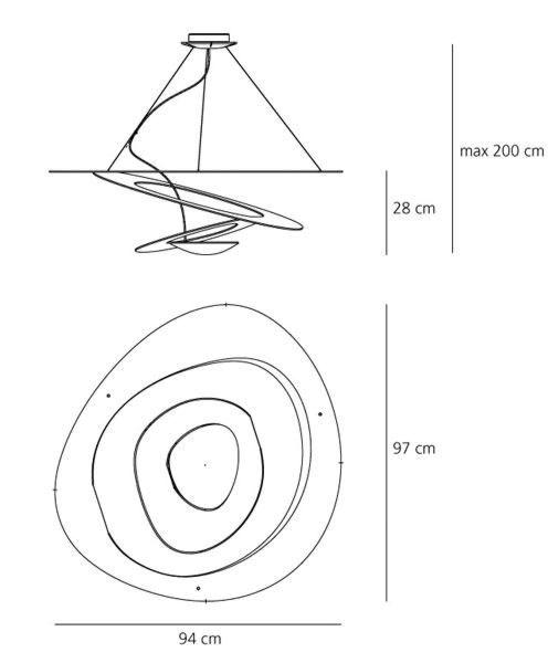 Artemide Pirce LED hanglamp - Wit