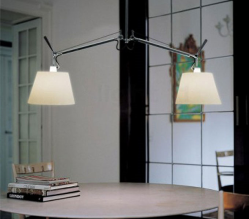 Artemide Tolomeo Basculante hanglamp-Perkament-Kap ∅ 36 cm