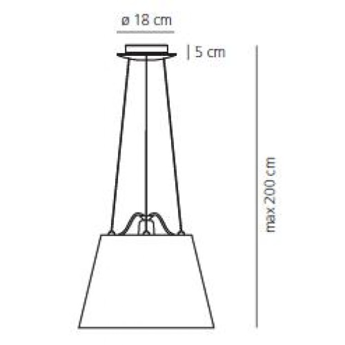 Artemide Tolomeo Mega Sospensione hanglamp-Grijs-Kap ∅ 52 cm