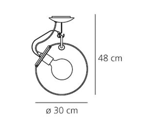 Artemide Miconos Soffitto plafondlamp