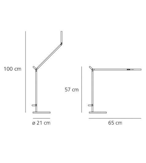 Artemide Demetra LED tafellamp-Antraciet-grijs