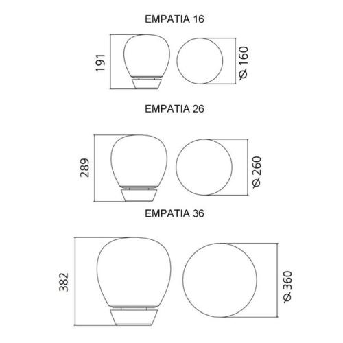 Artemide Empatia tavolo LED tafellamp -∅ 26 cm