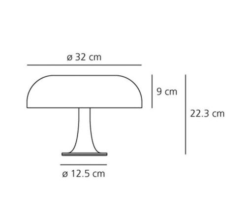 Artemide Nessino tafellamp-Oranje