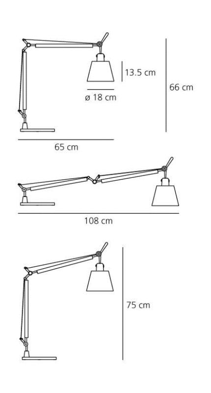 Artemide Tolomeo Basculante tavolo tafellamp-Perkament