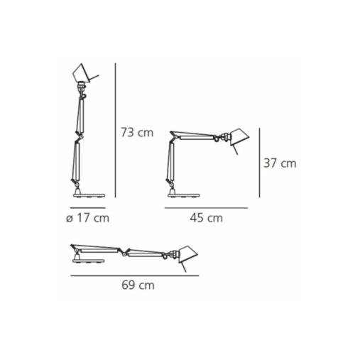 Artemide Tolomeo Micro tafellamp-Rood