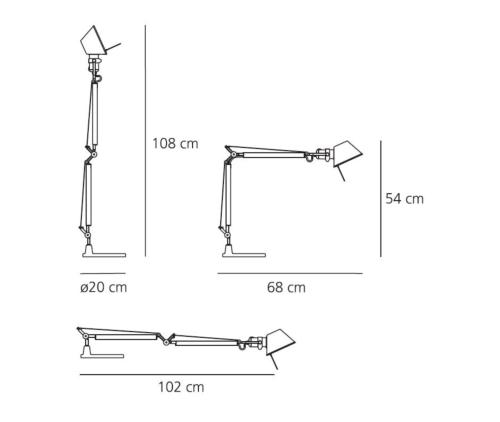 Artemide Tolomeo mini tafellamp-Wit