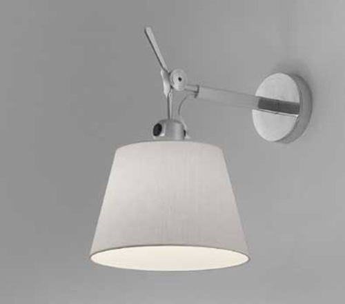 Artemide Tolomeo Parete diffuser wandlamp-Satijn grijs-Kap ∅ 24 cm
