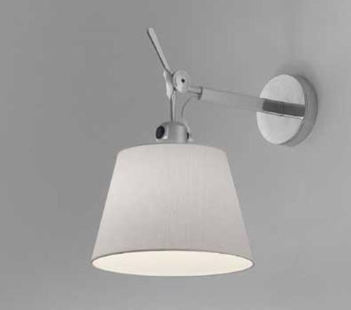 Artemide Tolomeo Parete diffuser wandlamp-Satijn grijs-Kap ∅ 32 cm