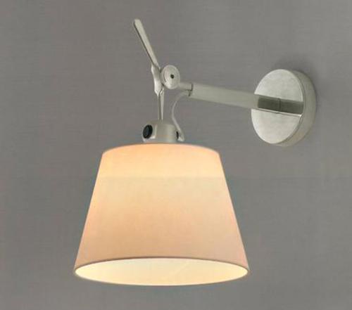 Artemide Tolomeo Parete diffuser wandlamp-Perkament-Kap ∅ 18 cm