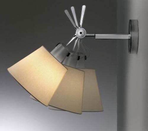 Artemide Tolomeo Parete diffuser wandlamp-Satijn grijs-Kap ∅ 18 cm