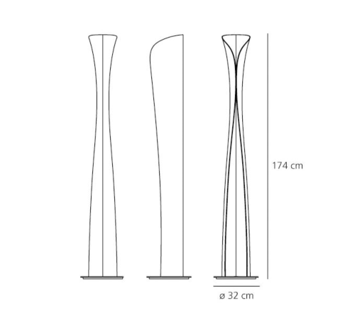 Artemide Cadmo vloerlamp-zwart
