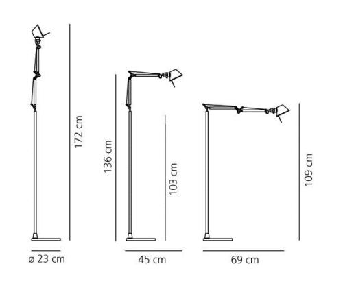 Artemide Tolomeo Micro Terra LED vloerlamp