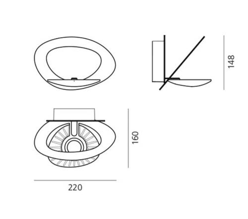 Artemide Pirce Micro Parete LED wandlamp-Wit