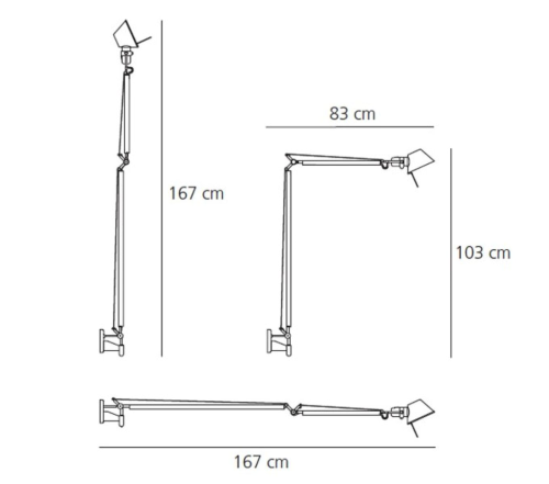 Artemide Tolomeo Braccio wandlamp