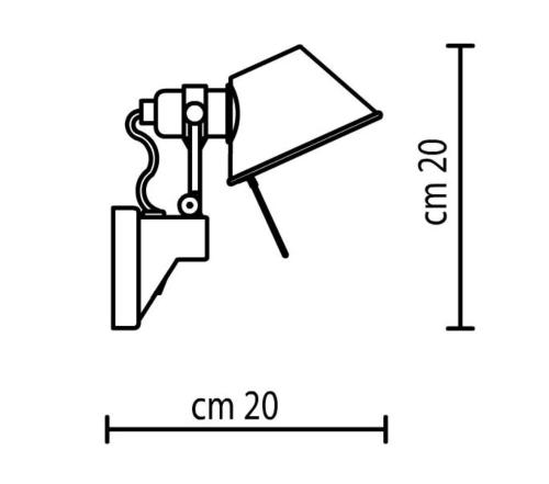 Artemide Tolomeo Micro Faretto wandlamp-Zonder schakelaar