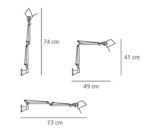 Artemide Tolomeo Micro Parete wandlamp