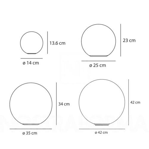 Artemide Dioscuri wandlamp-Kap ∅ 42 cm