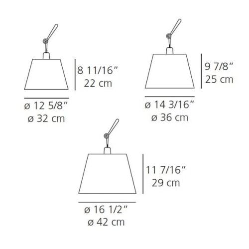 Artemide Tolomeo Mega Terra LED aluminium vloerlamp met snoerdimmer-zwart-Kap ∅ 36 cm