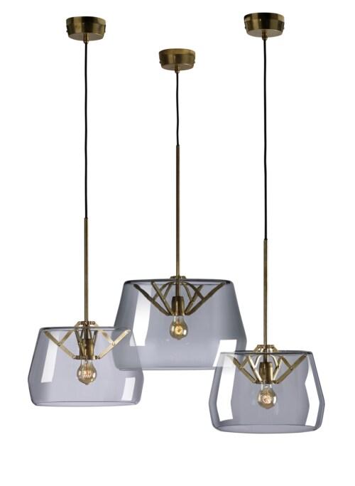Tonone Atlas D350 hanglamp-Transparant