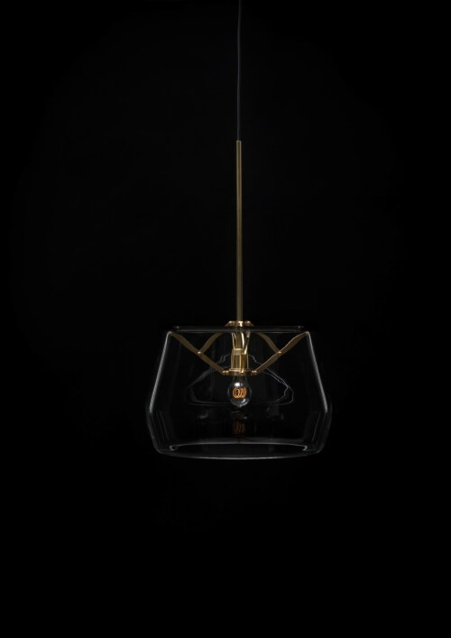 Tonone Atlas D350 hanglamp-Natural-grijs