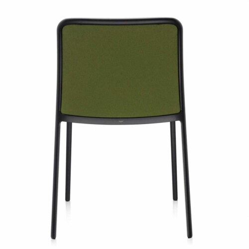 Kartell Audrey Soft zwart stoel-Zuurgroen-Zonder armleuning