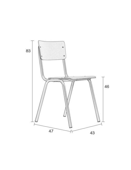 Zuiver Back to School stoel-Grijs