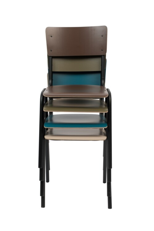Zuiver Back to School Matte stoel-Bruin