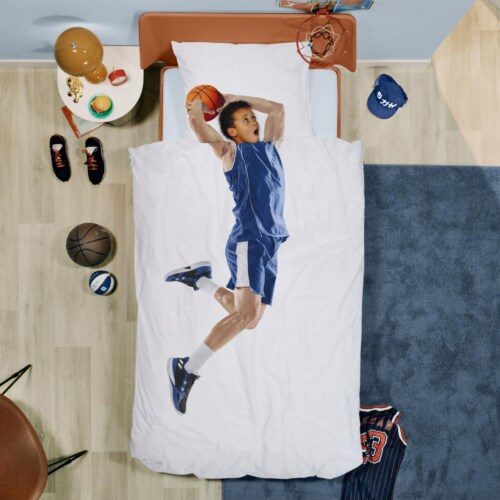 Snurk Basketball Star Blue dekbedovertrek-200x200/220 cm