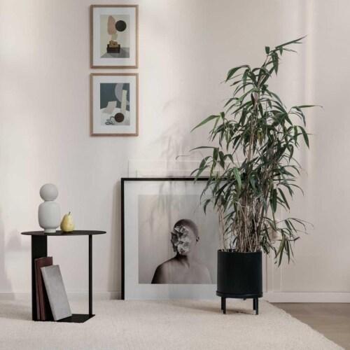 Ferm Living Bau bloempot-Zwart-Small