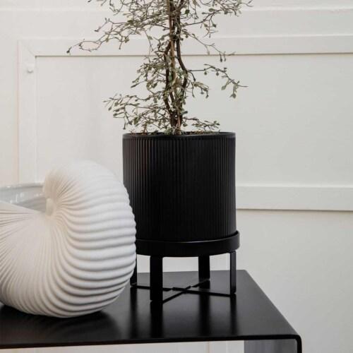 Ferm Living Bau bloempot-Zwart-Large