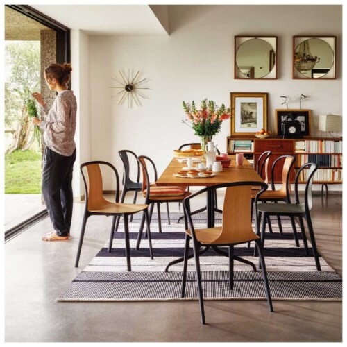 Vitra Belleville Chair stoel-Zwart