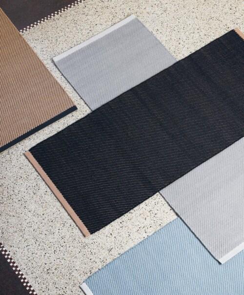 HAY Bias Rug vloerkleed-Cool grey-140x200 cm