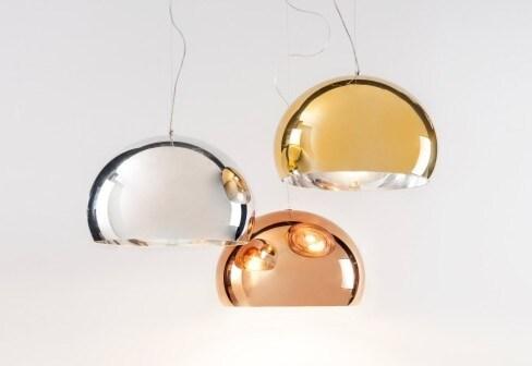 Kartell Small Fly LED hanglamp-Chroom