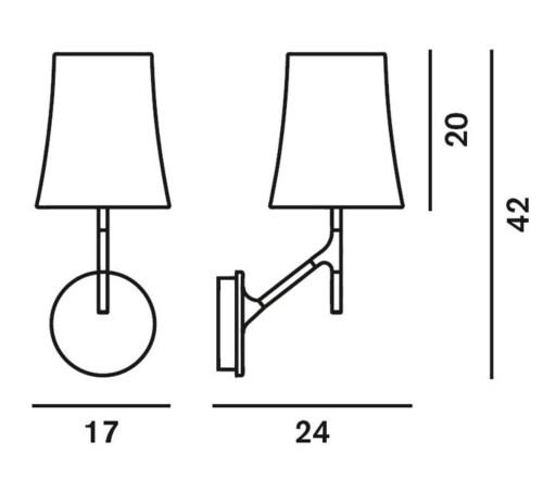 Foscarini Birdie wandlamp-Wit