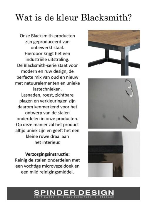 Spinder Design Rizzoli schoenenrek-Blacksmith