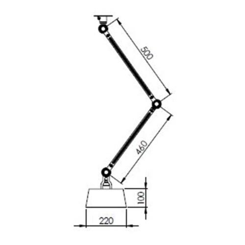 Tonone Bolt 2 Arm Under Fit Install plafondlamp-Striking orange