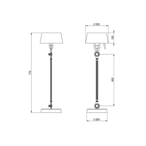 Tonone Bolt Standard tafellamp-Pure white