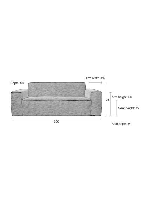 Zuiver Bor Sofa bank-Grijs