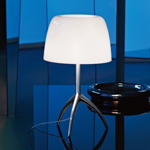 Foscarini Lumiere grande tafellamp-Turquoise-Chroom